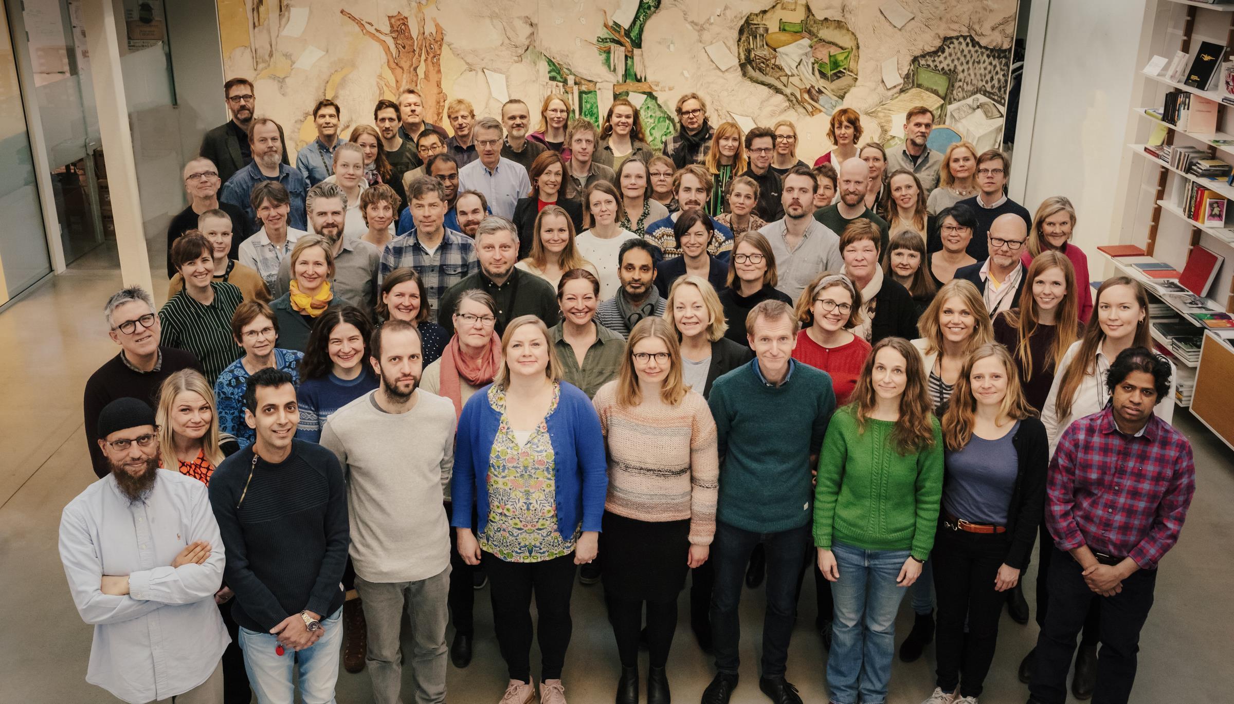 Felles bilde med alle ansatte i Kulturrådet