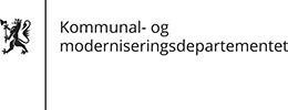 Kommunal- og moderniseringsdepartementet logo