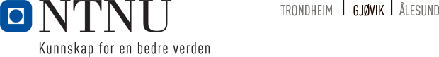 NTNU - Norges teknisk-naturvitenskapelige universitet i Gjøvik logo