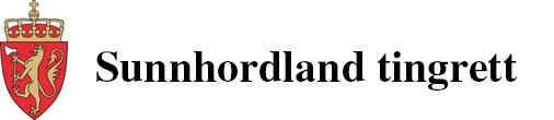 Sunnhordland tingrett  logo