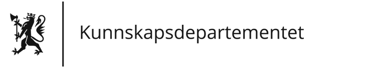 Kunnskapsdepartementet logo