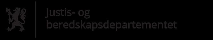 Justis- og beredskapsdepartementet logo